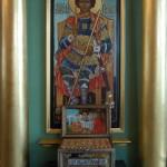 Мощевик с частицами мощей прп. старцев Оптинских и других святых.