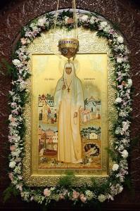 Икона св. прпмц. великой княгини Елисаветы из Покровского храма Марфо-Мариинской обители