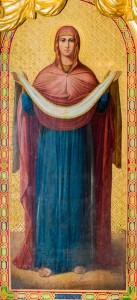 Икона Покрова Пресвятой Богородицы Богорождественского храма с.Льялово Фото: Владимир Ветер