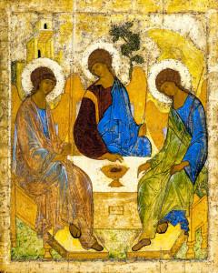 Икона Святой Троицы, иконописец прп. Андрей Рублёв, ред. фото: Владимир Ветер