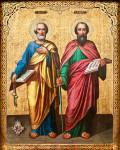 Икона святых первоверховных апостолов Петра и Павла, редакция: Владимир Ветер