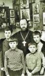 Отец Валериан со старшими сыновьями