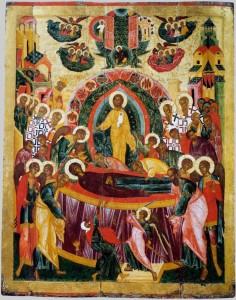 Икона Успения Богоматери, XVI век. Обработка: Владимир Ветер